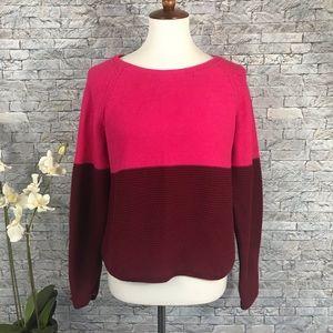 Banana Republic Pink Burgundy Ribbed Sweater